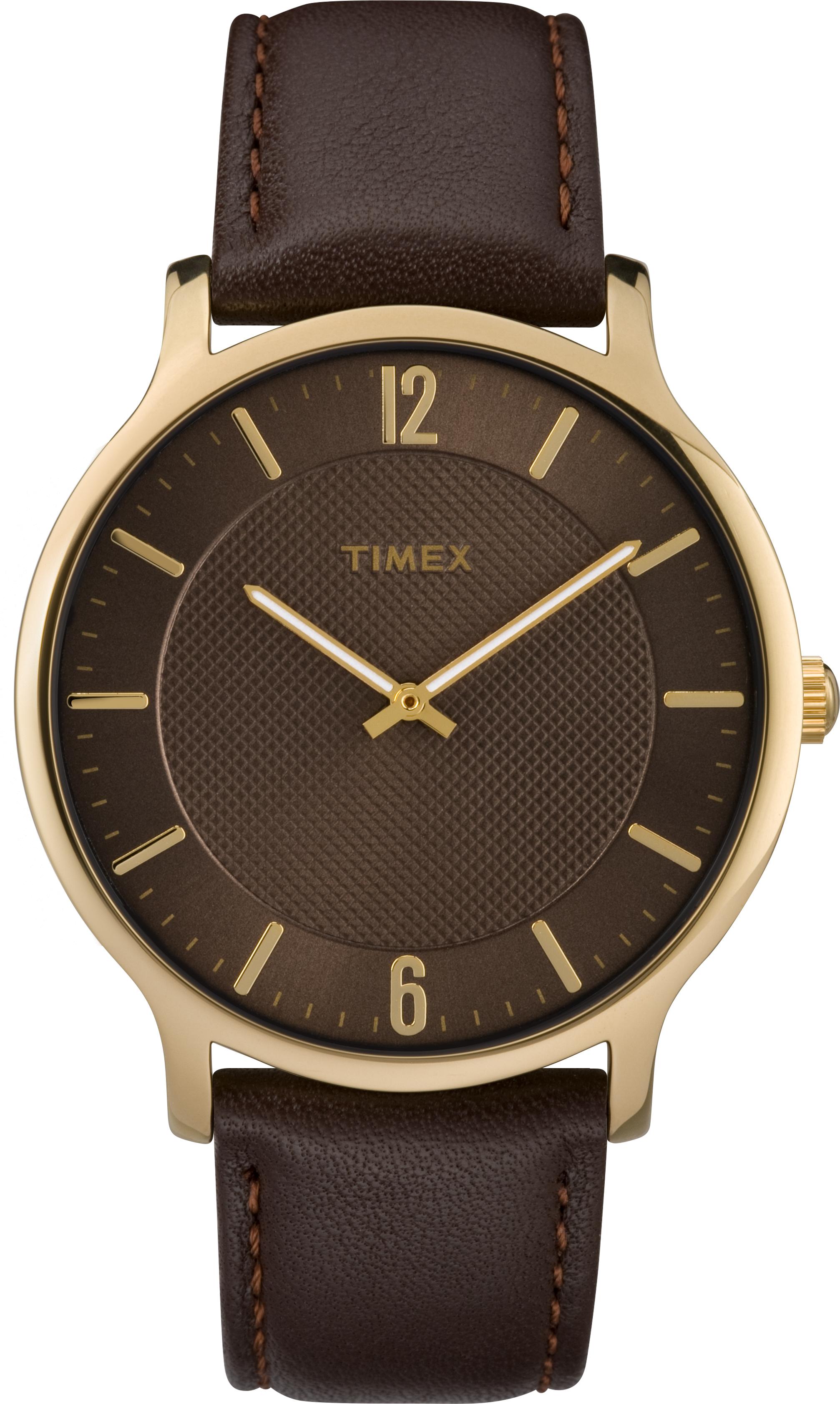 Montre Timex Metropolitan pour hommes - Cadran brun & Bracelet en cuir brun