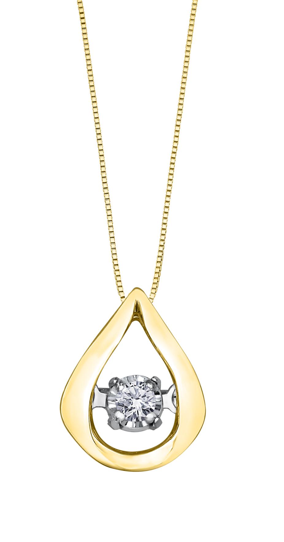 Éclat du Nord Dancing Diamond Pendant - 10K yellow gold & Canadian diamond