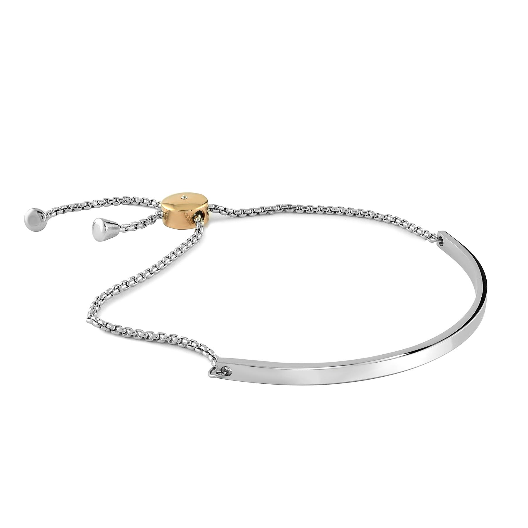 Adjustable bracelet - 2 tone stainless steel