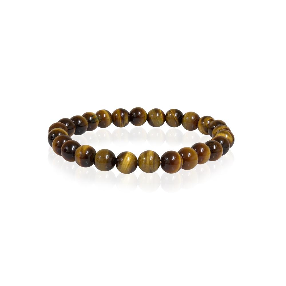 Beads bracelet - Genuine eye tiger