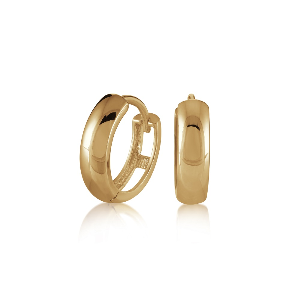Hoop earrings for child - 10K yellow gold