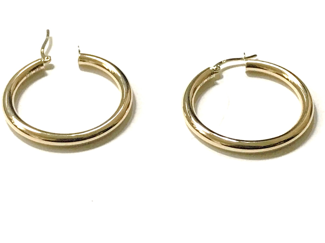 Hoop earrings for woman - 10K yellow gold