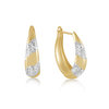 Hoop earrings for woman - 10K 2 tone gold
