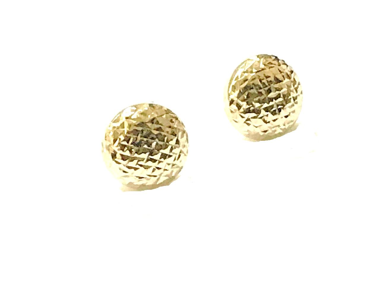 Stud earrings for woman - 10K yellow gold