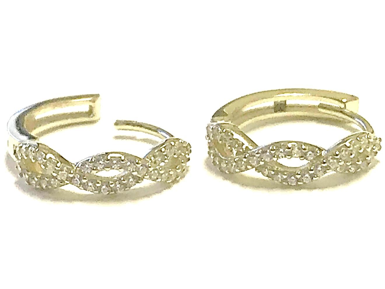 Boucles d'oreilles huggies pour femme - Or jaune 10K & Zircons cubiques