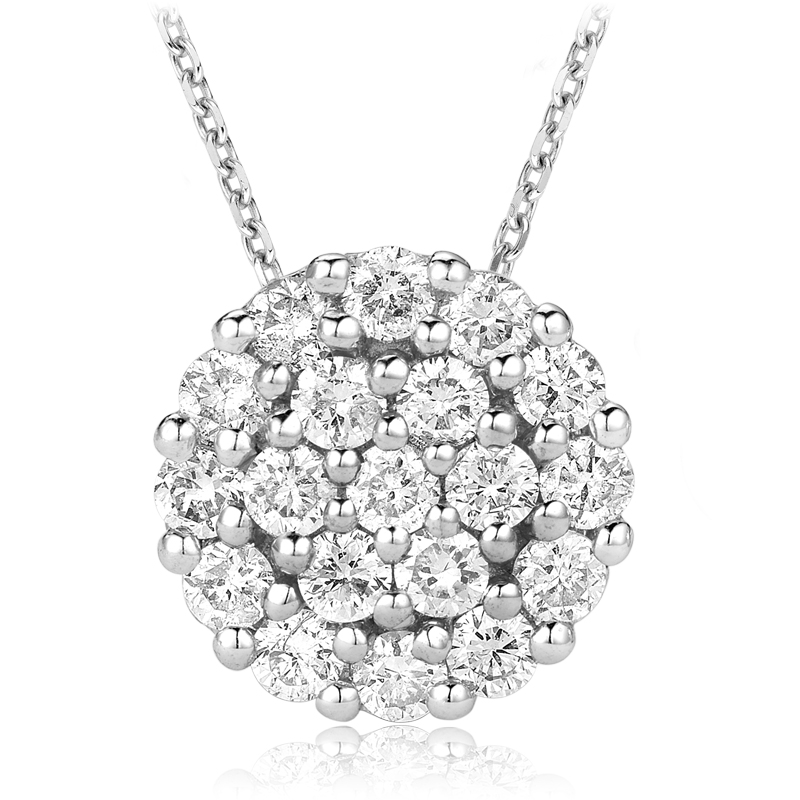 Pendant for woman - 14K white gold & Diamonds