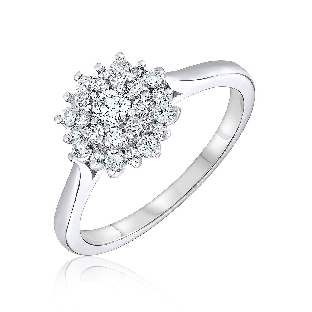 Ring for woman - 14K white gold & Diamonds