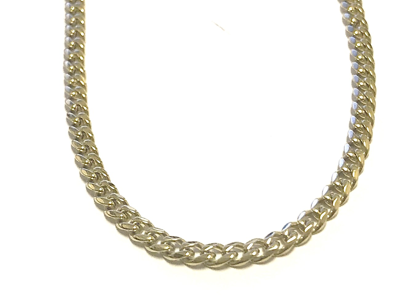 20'' Curb chain for men - Yellow stainless steel