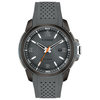 Eco-Drive watch for man - Ion plated stainless steel & Gray polyurethane strap