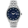 Eco-Drive watch for man - Stainless steel & Midnight blue dial with diamonds markers ( BM7251-53M)
