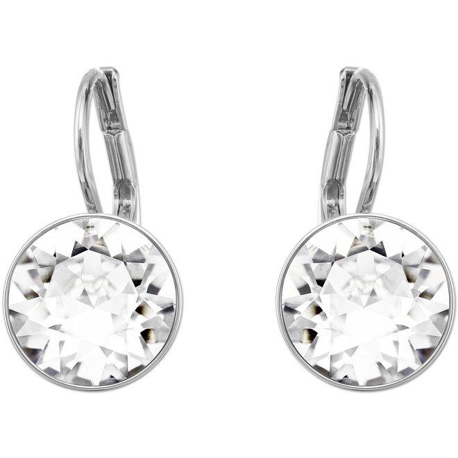 6944a56bc Swarovski Bella Mini Pierced Earrings, White, Rhodium Plating. Color ...