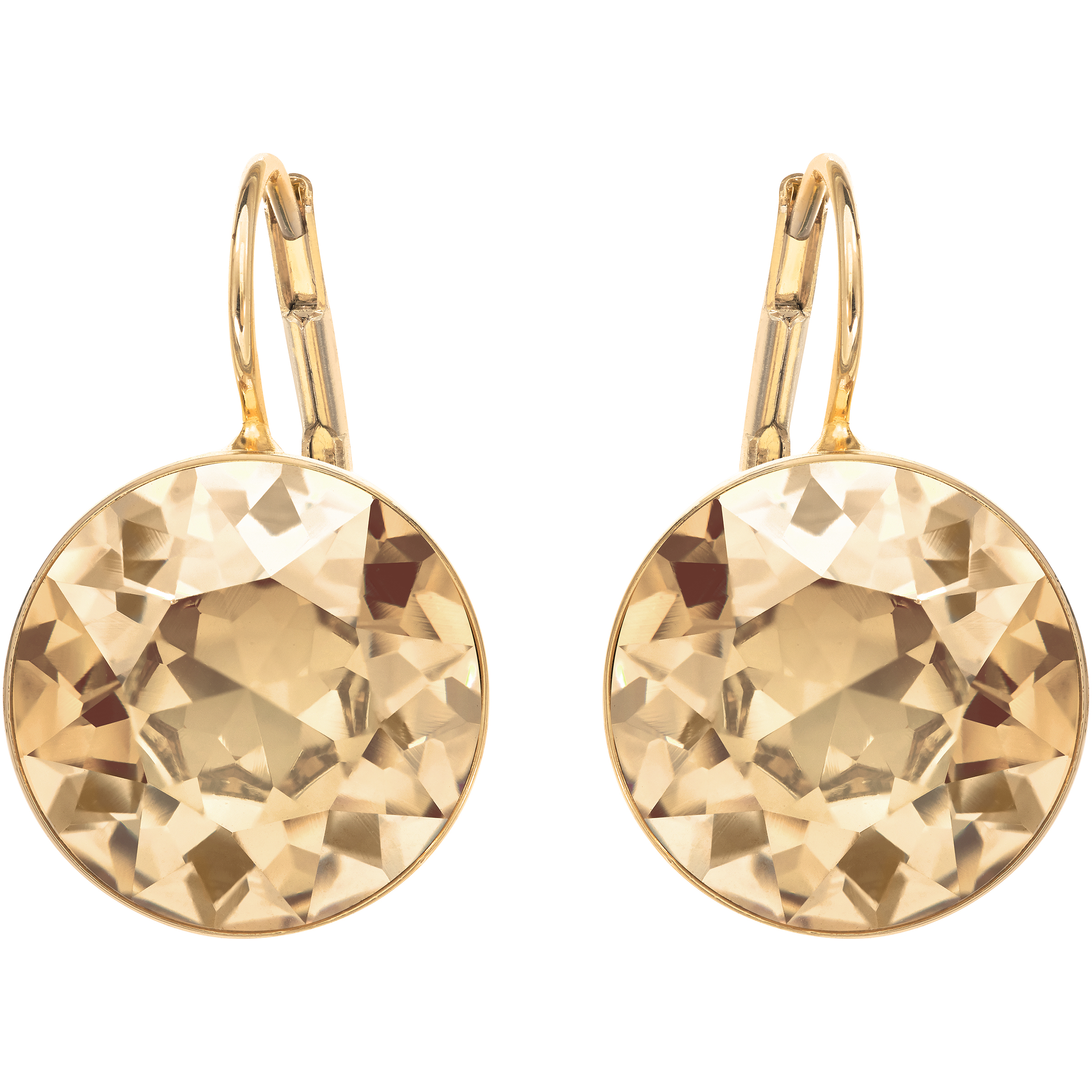 Bella Pierced Earrings, Golden, Gold Plating
