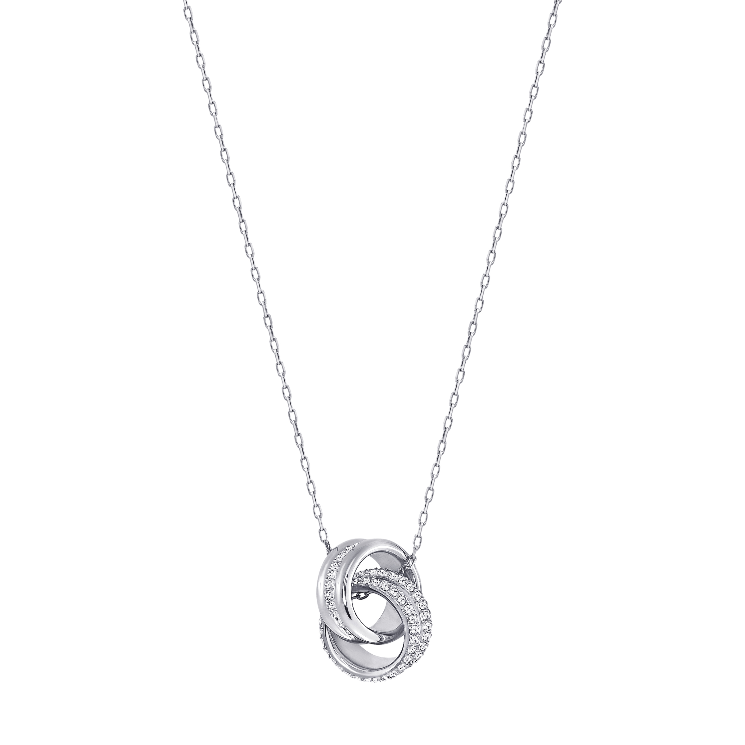 Further Pendant, Small, White, Rhodium plating