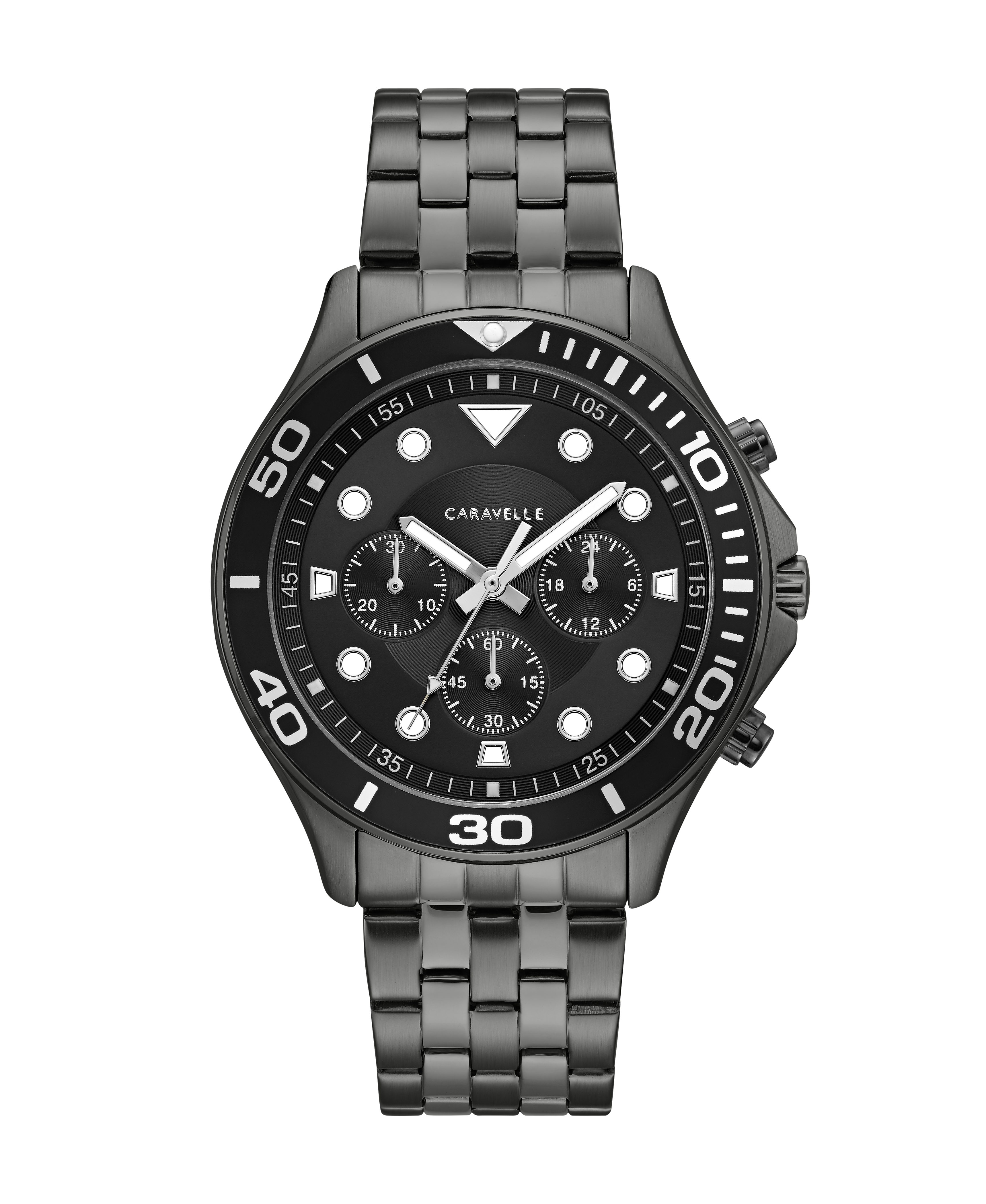 NY Watch for Man - Gunmetal stainless steel & Matte black dial