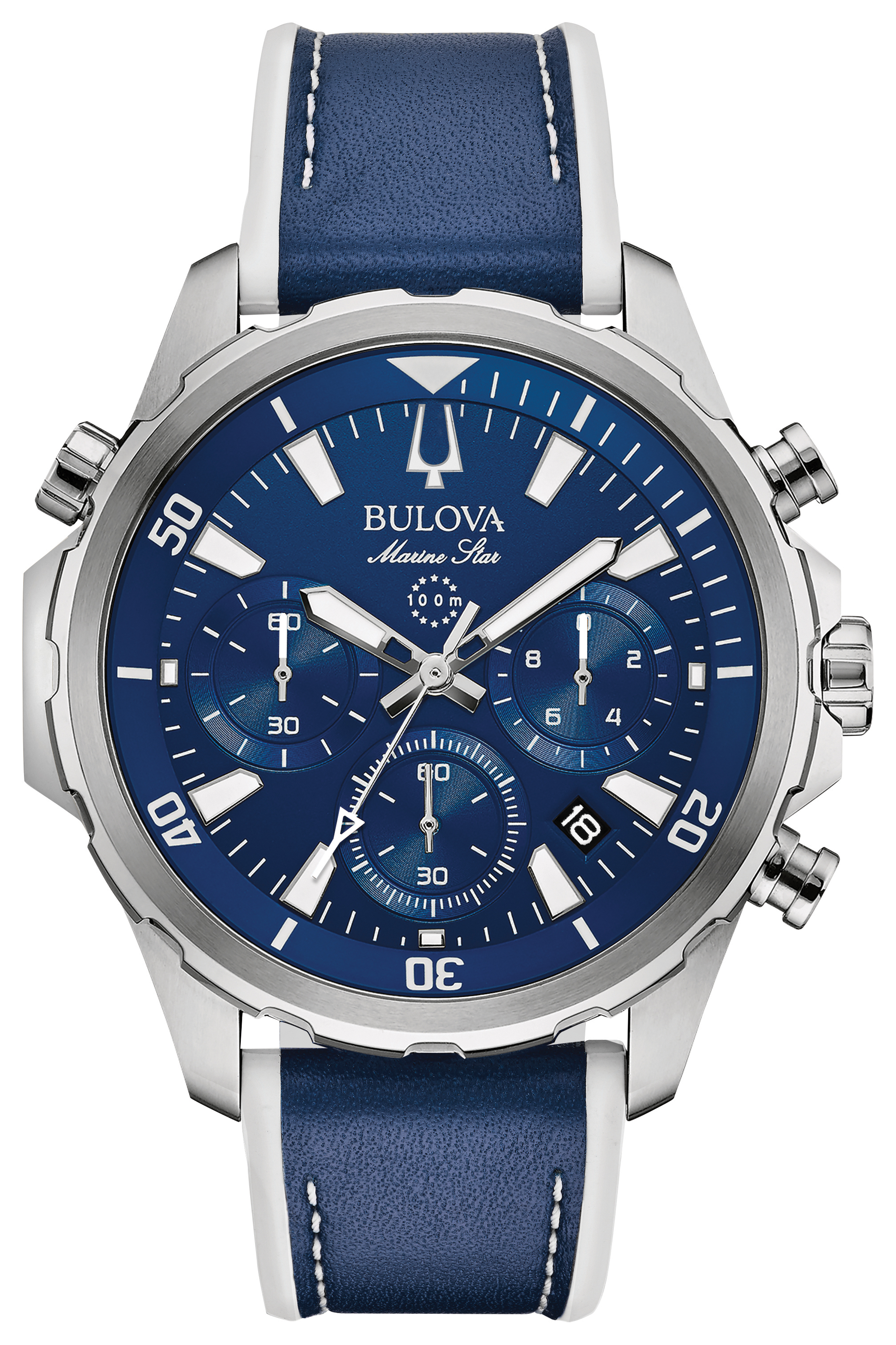 Bulova Watch for Man - Stainless steel & Blue dial