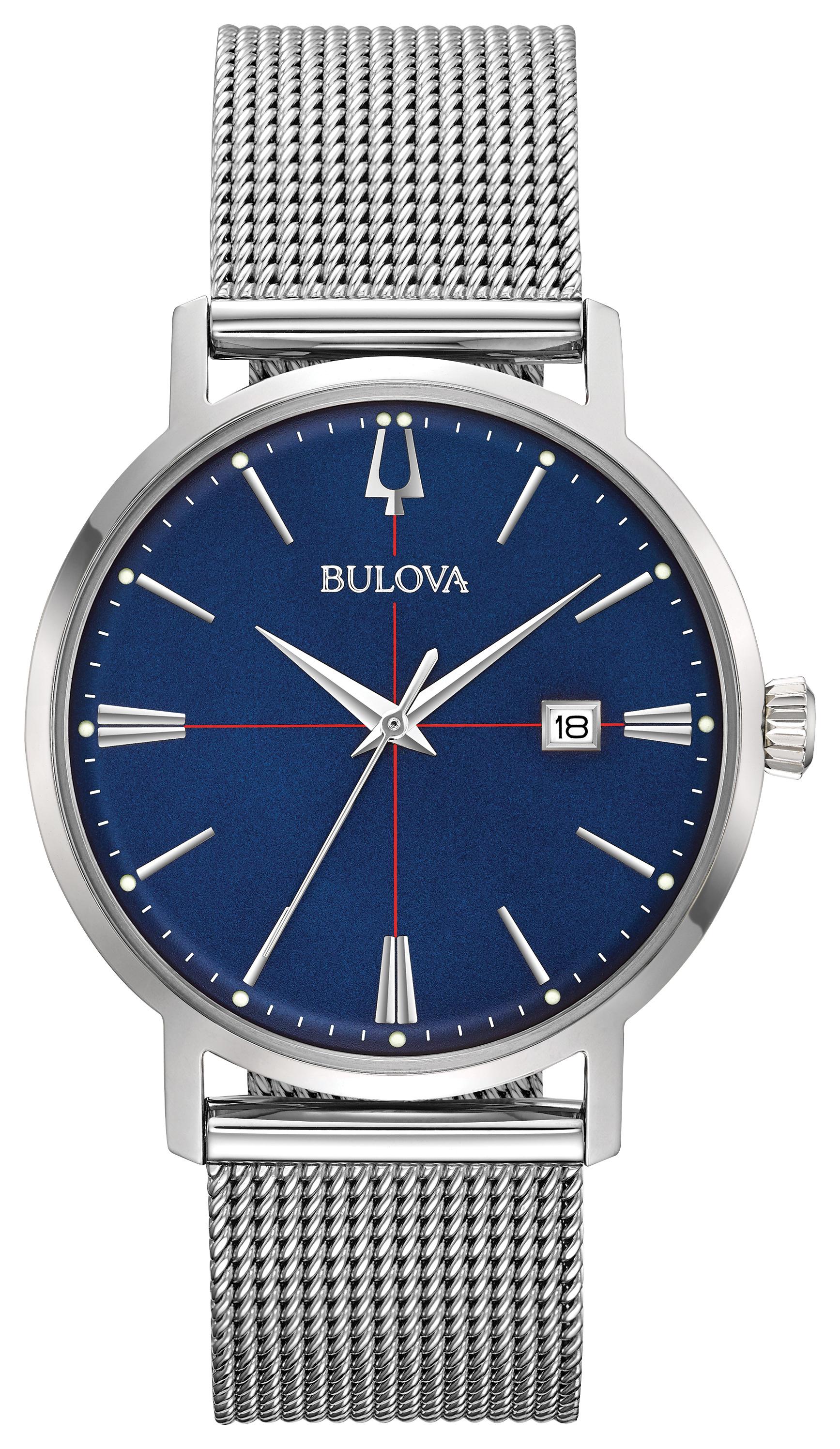 Montre Bulova pour homme - Acier inoxydable & Cadran bleu foncé