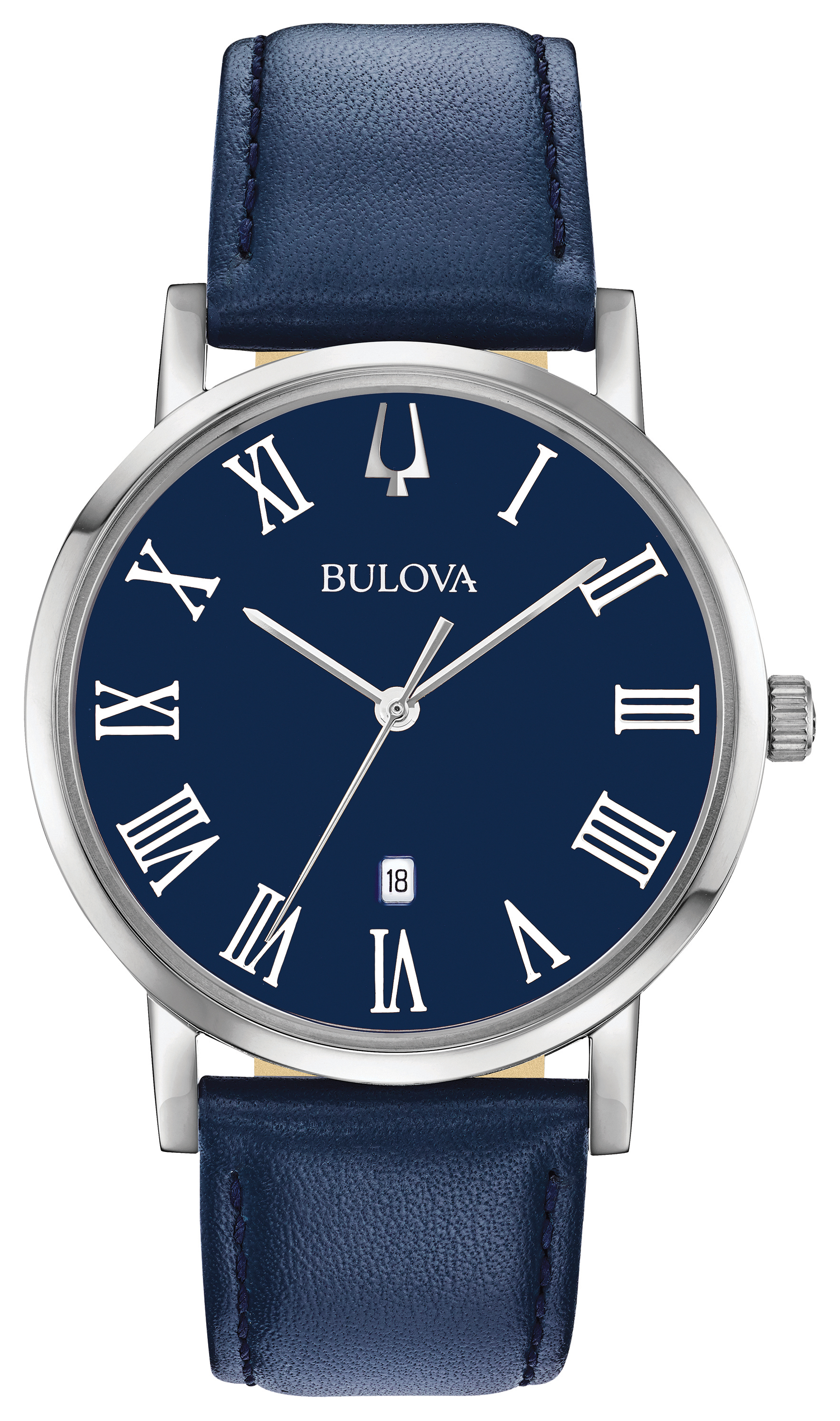 Bulova Watch for Man - Stainless steel & Dark blue dial with roman markers