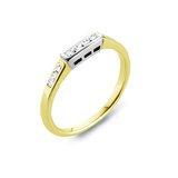 Jonc d'alliances - Or 2-tons 14K (jaune et blanc) & Diamants totalisant 0.12 Carat