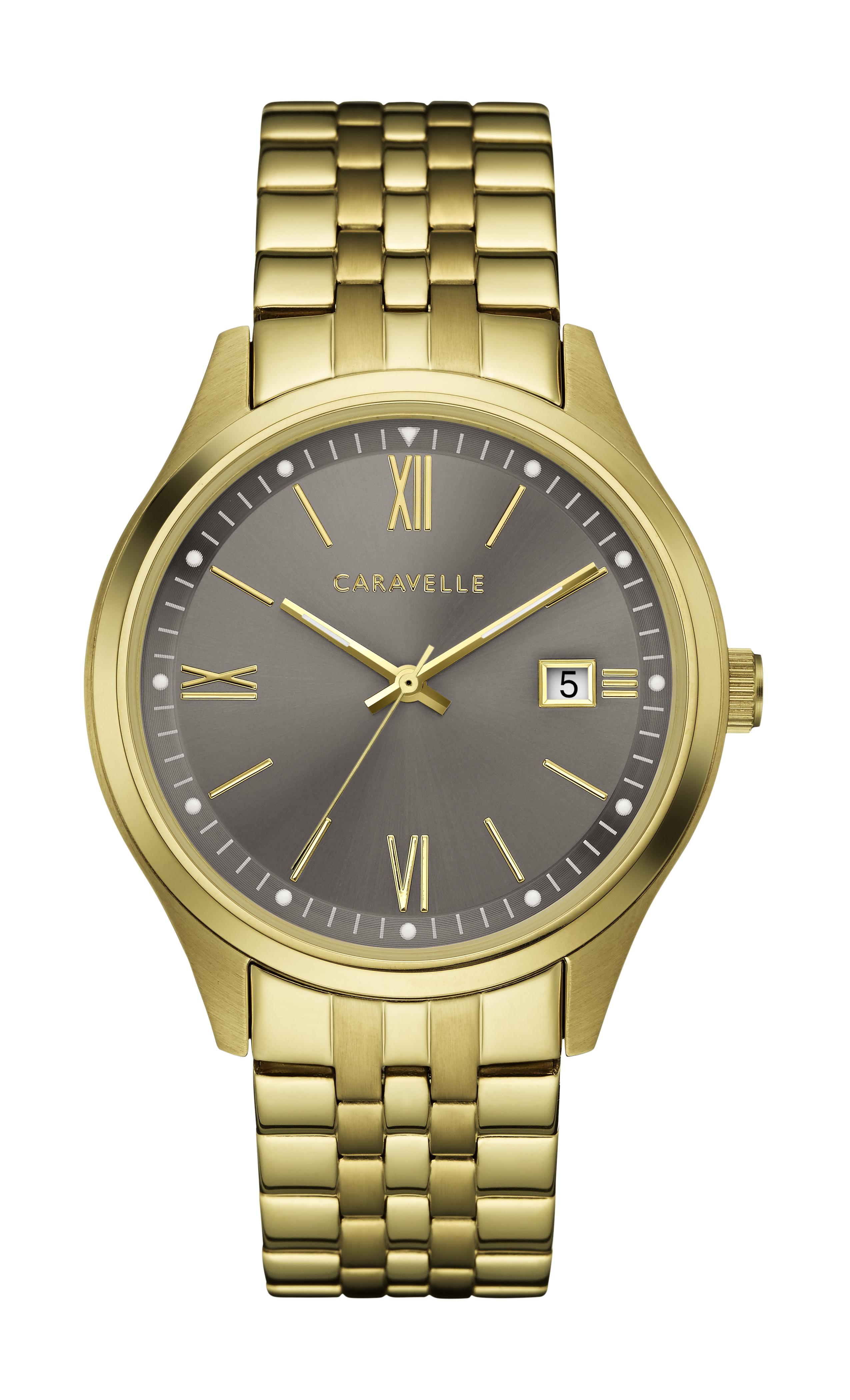 NY Watch for Man - Golden stainless steel & Grey dial