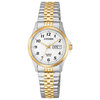 watch for women - 2 tone stainless steel & White dial