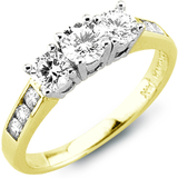 Women's ring - 14K yellow Gold & Diamonds 0.25 Carat T.W.