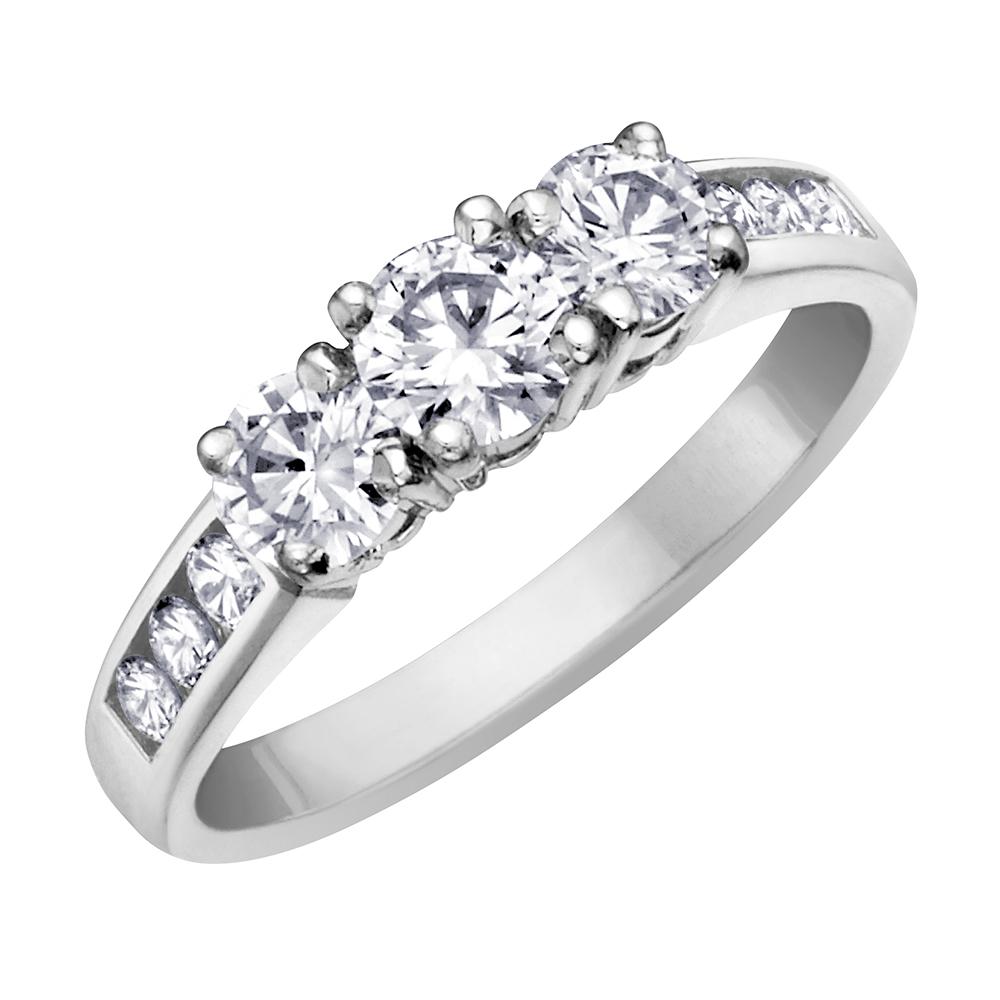 Bague pour femme - Or blanc 14K & Diamants totalisant 0.25 Carat