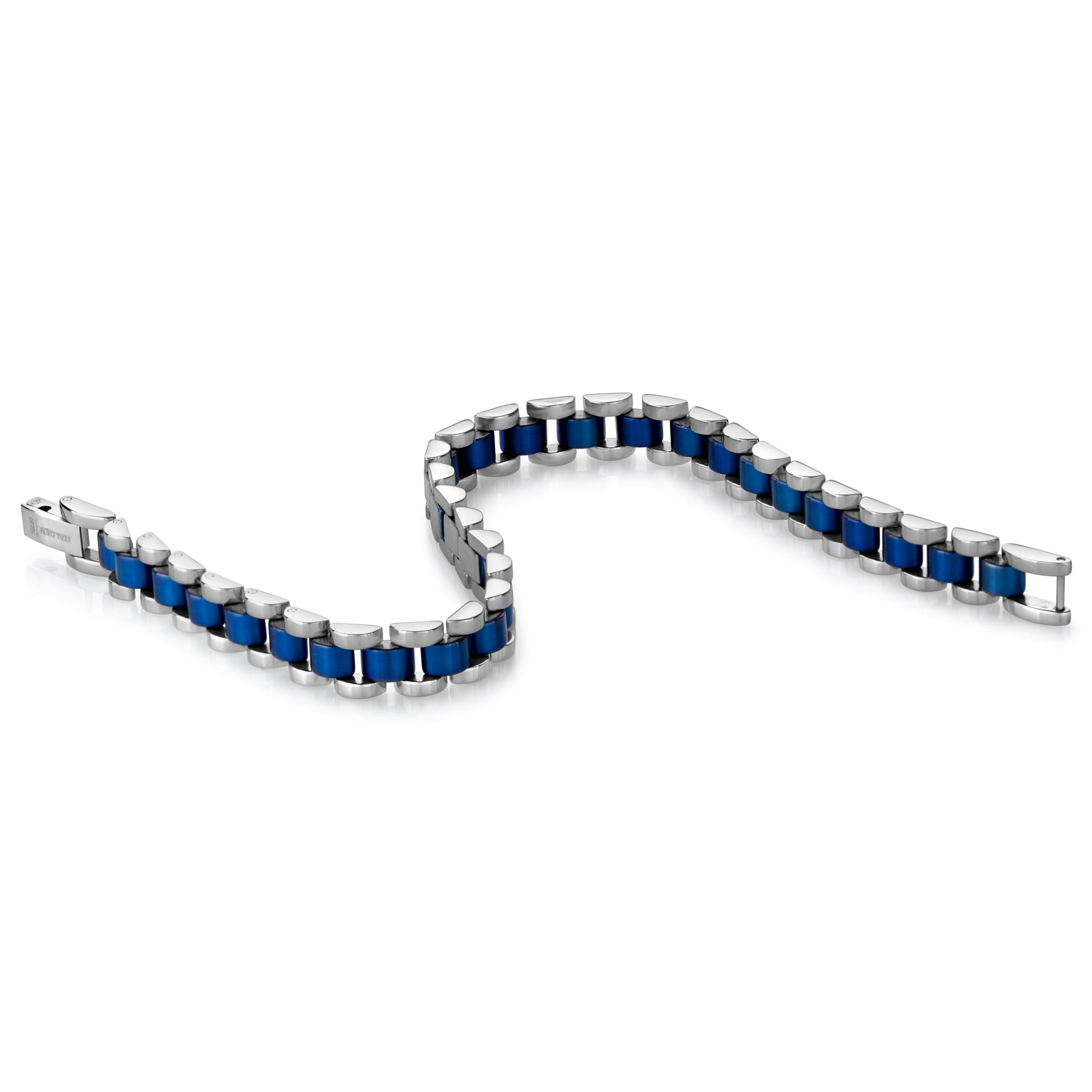 Bracelet for man - 2 tone stainless steel