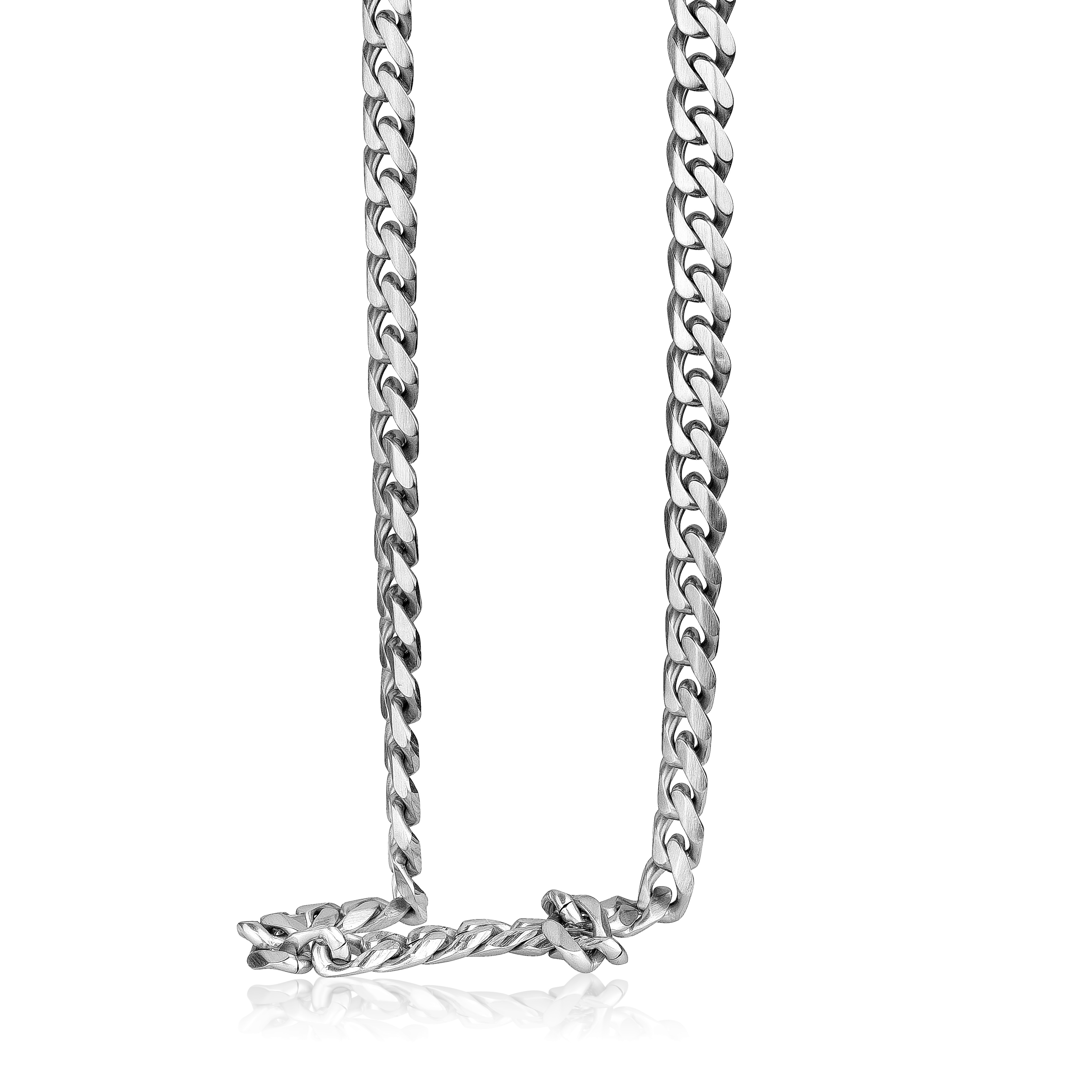 Curb chain  22-24'' for men - Stainless steel