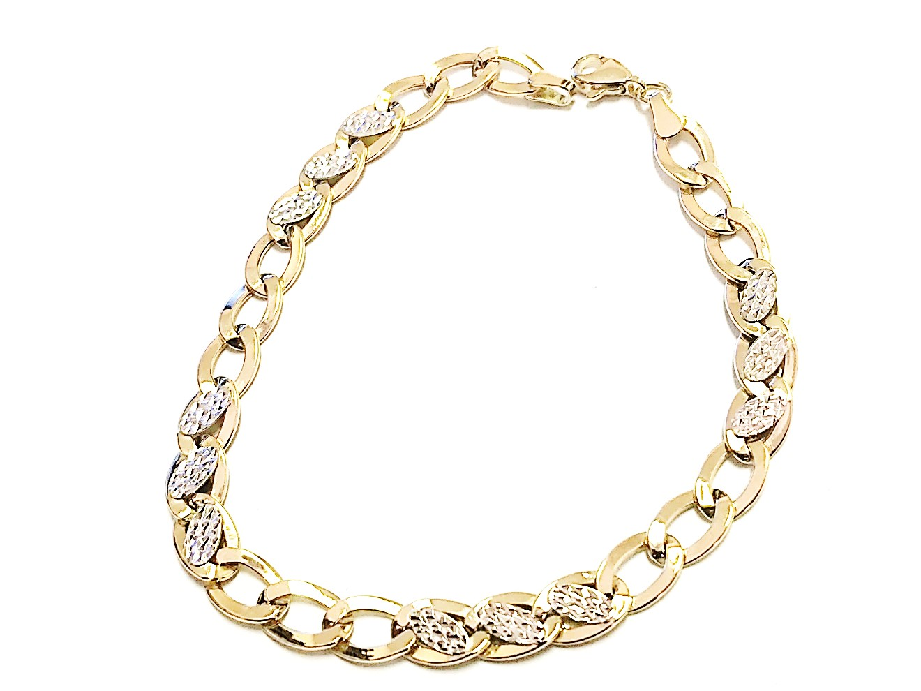 Bracelet for man - 10K 2 tone gold