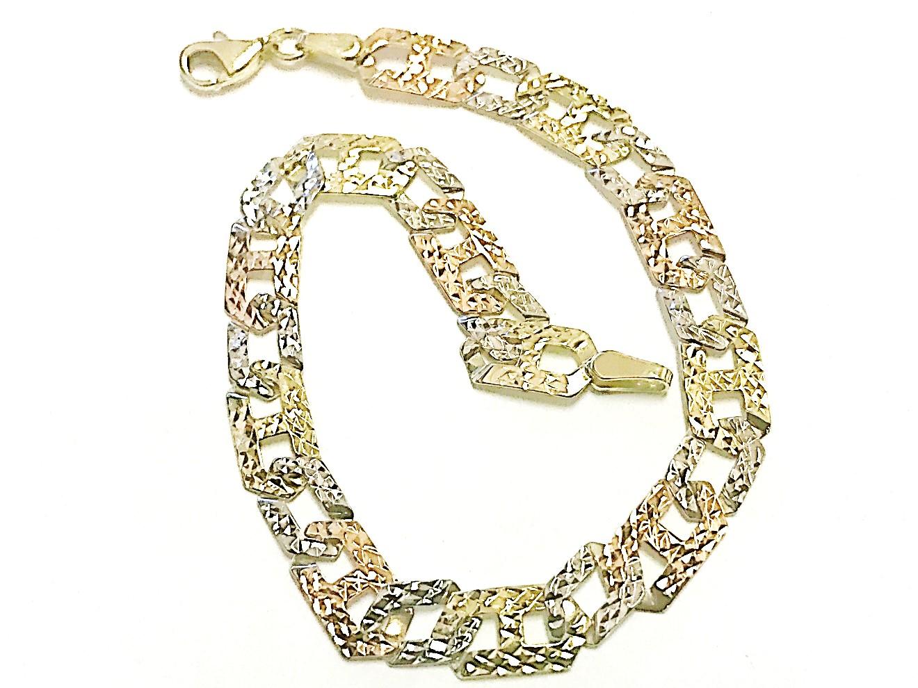 Bracelet de 7'' pour femme - Or 3 tons 10K