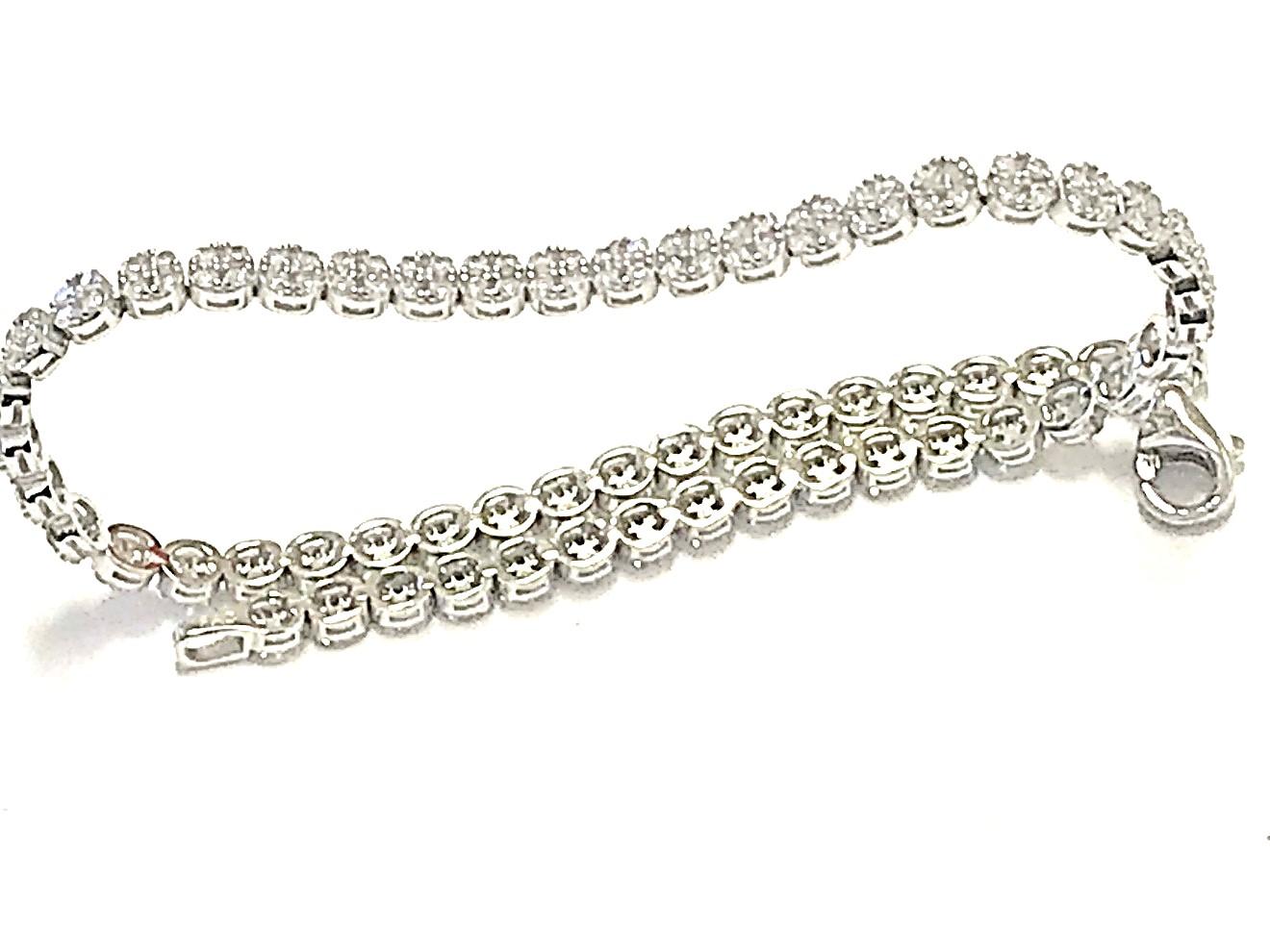 Bracelet pour femme - Or blanc 10K