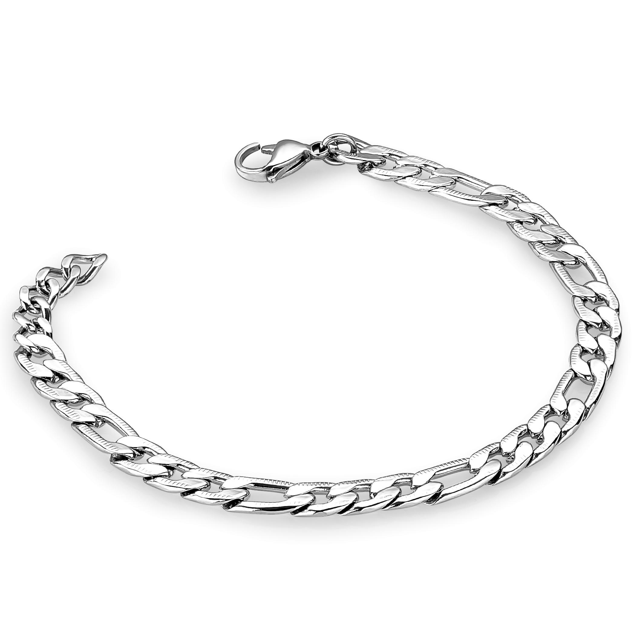 Bracelet de type figaro pour homme - Acier inoxydable