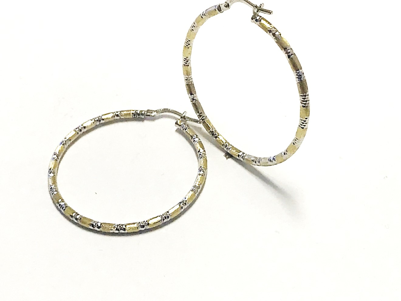 Boucles d'oreilles anneaux pour femme - Or 2 tons 10K