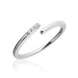 Bague pour femme - Or blanc 10K & Diamants