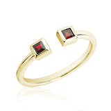 Ring for woman - 10K yellow gold & Ruby