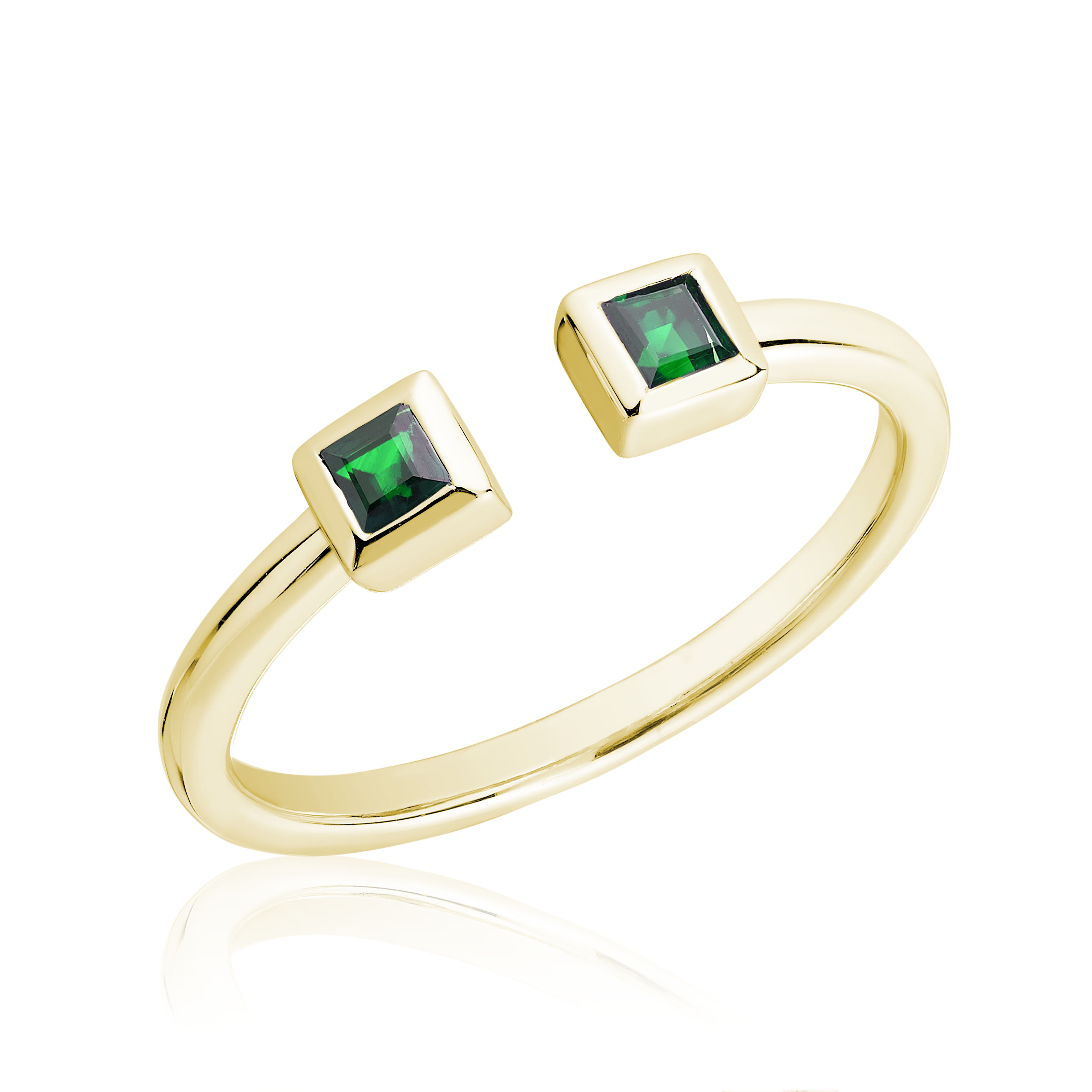 Ring for woman - 10K yellow gold & Emerald