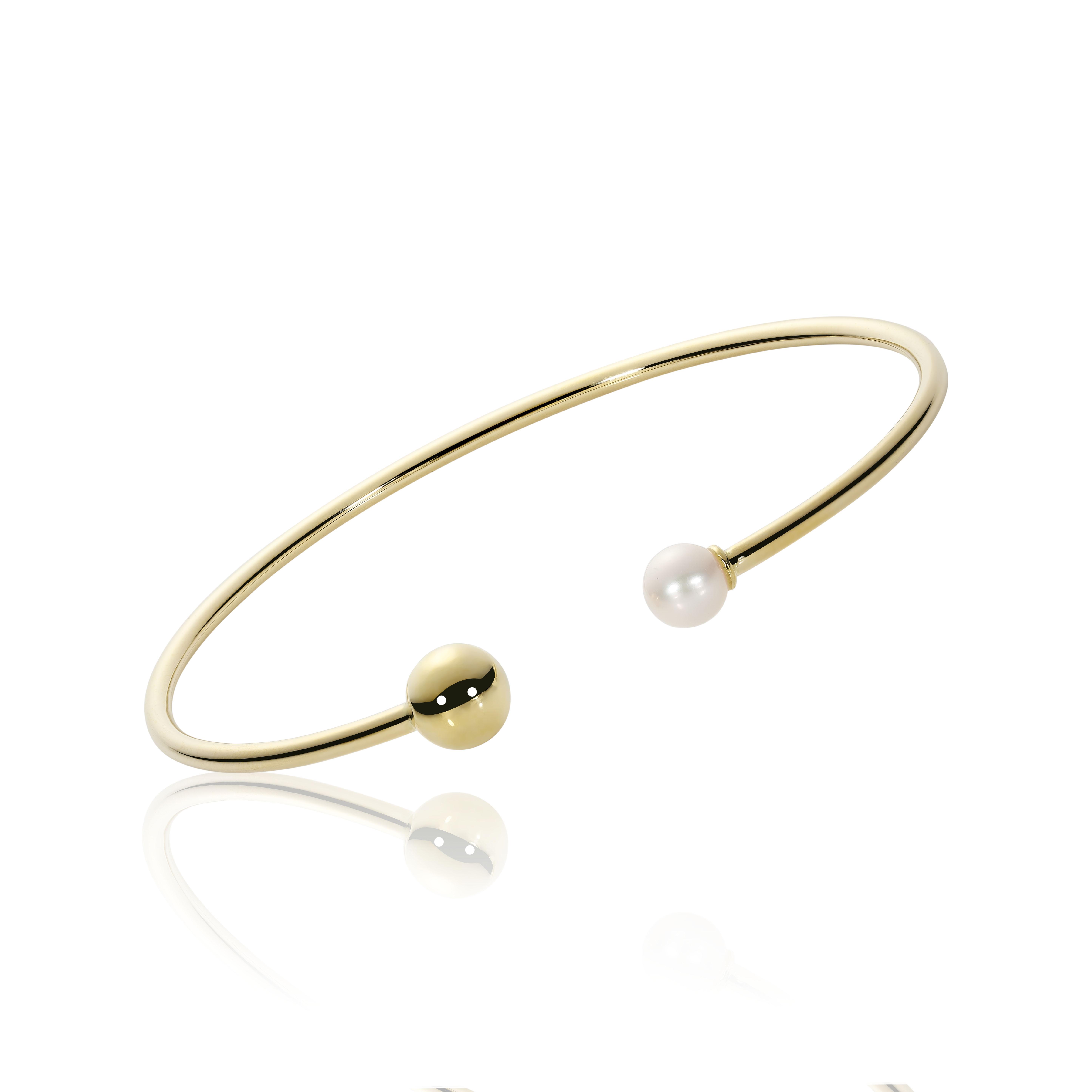 Bracelet pour femme - Or jaune 14K & Perle