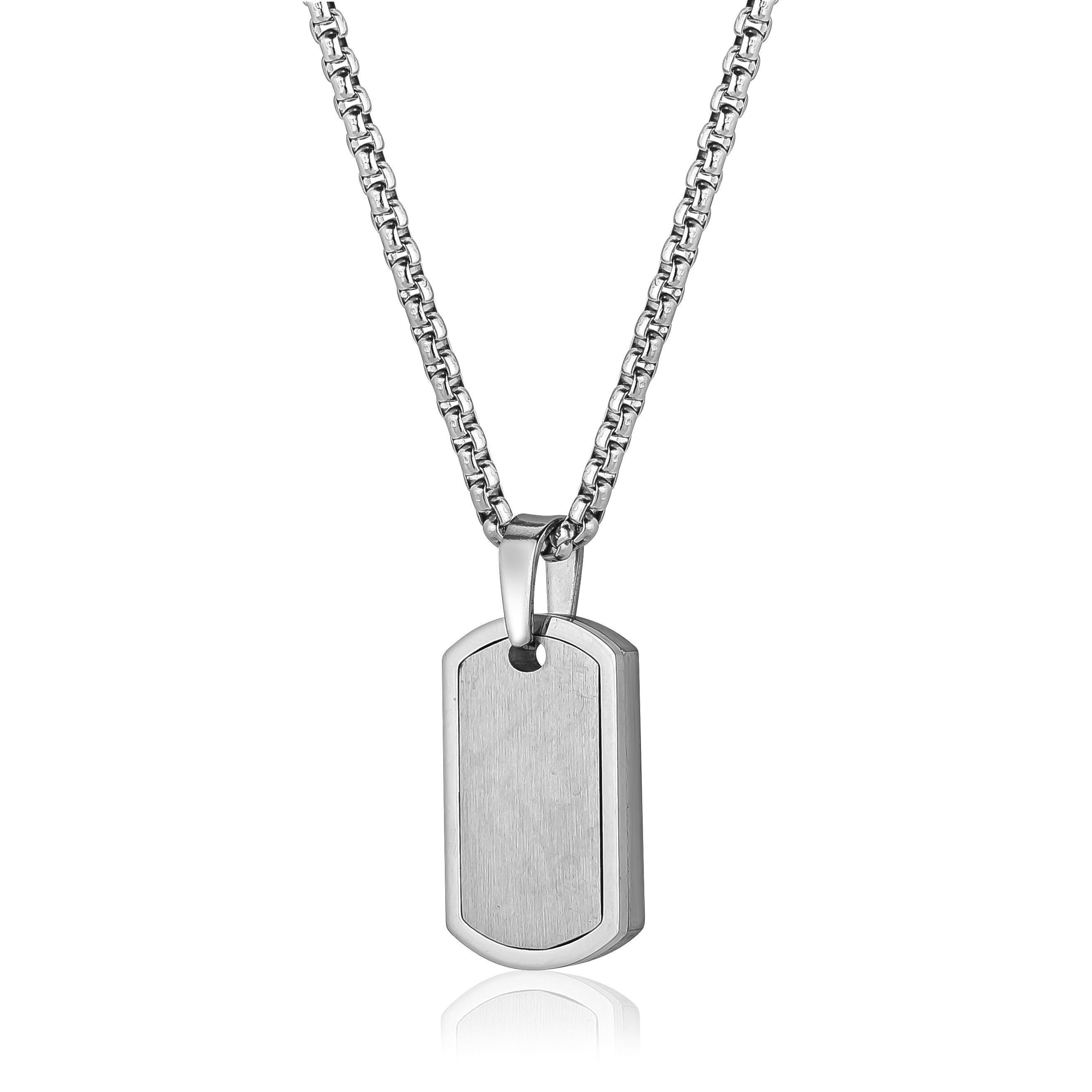 Plate necklace - Stainless steel