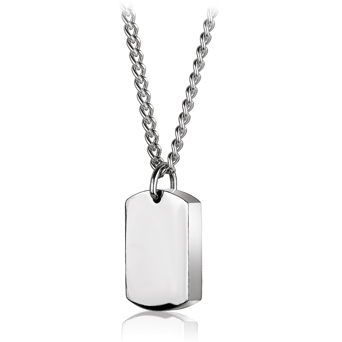 Reversible urn-plate pendant - Stainless steel