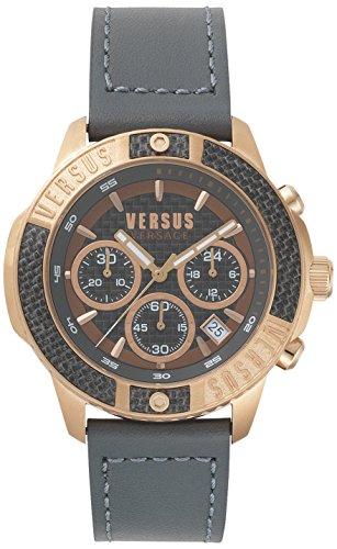 Montre Versus par Versace pour homme - Acier inoxydable & bracelet de cuir