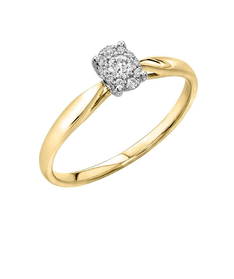 Éclat du Nord Ring for woman -10K yellow gold & Canadian diamonds
