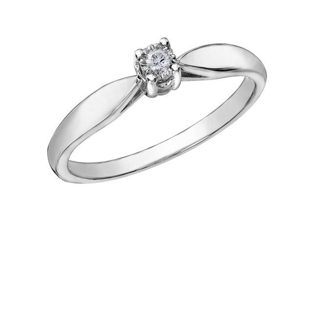 Pour Bague Or Femme Blanc 0 Éclat Latendresse Diamant Solitaire Canadien 03 CaratColorDoucet Du Nord 10kamp; kZXiuP