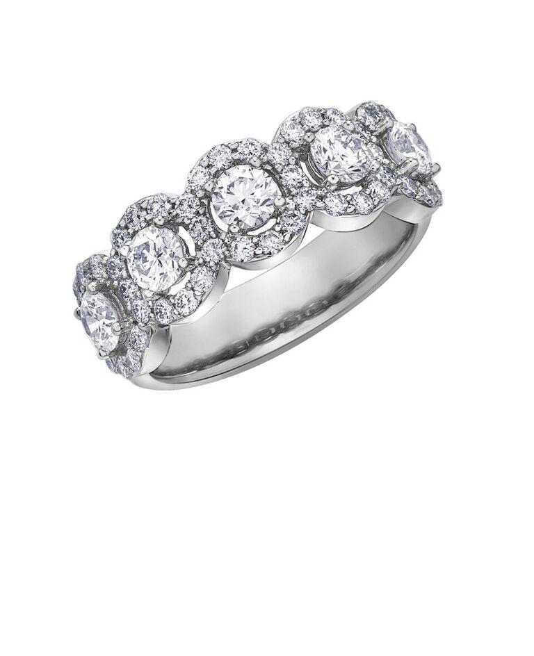 Bague pour femme - Or blanc 14K & Diamants totalisant 1.50 Carat