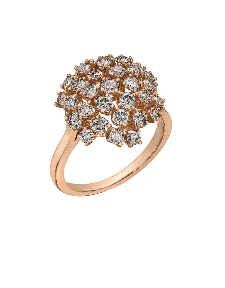 Ring for woman - 14K rose Gold & Diamonds T.W. 1.50 Carat