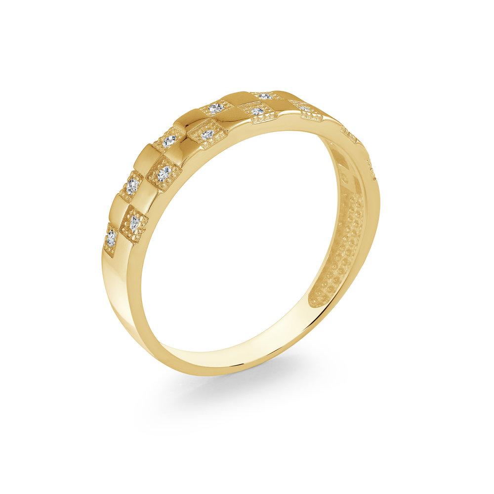 Bague pour femme - Or jaune 10K & Zircons cubiques