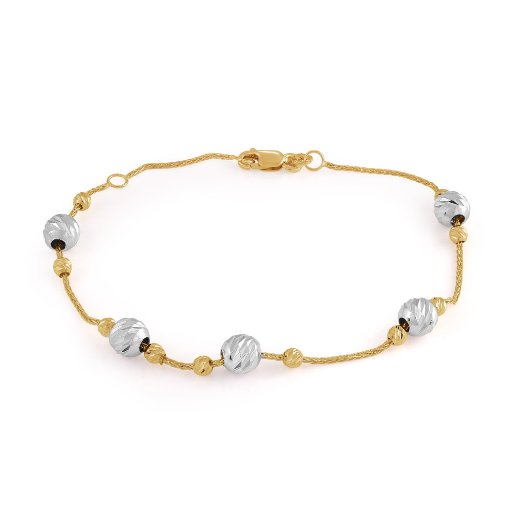 Bracelet for woman - 10K 2-tone gold