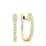 Boucles d'oreilles huggies pour femme - Or jaune 10K & Diamants totalisant 0.06 Carat