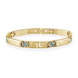 Bracelet pour femme - Acier inoxydable & Zircons cubiques bleu pâles
