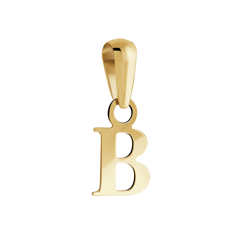 Letter ''B'' pendant for child - 10K yellow Gold
