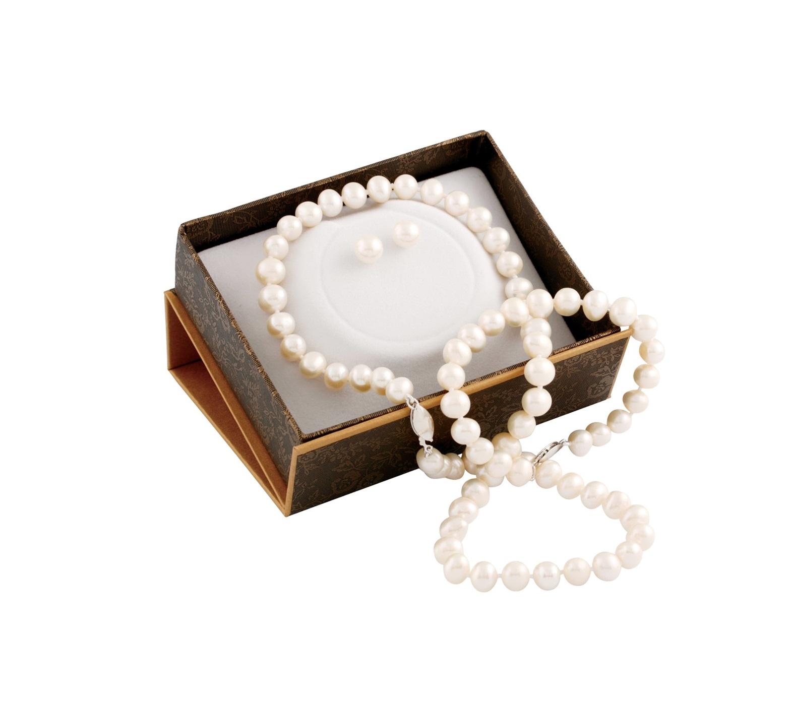 Ensemble 3 morceaux pour femme - Argent sterling & Perles d'eau douce